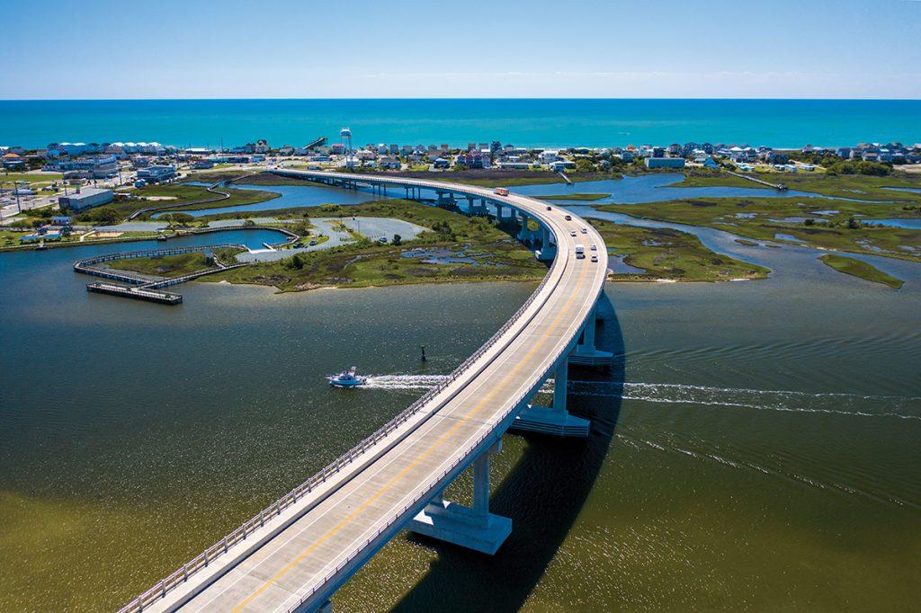 Photo of Topsail Bridge.