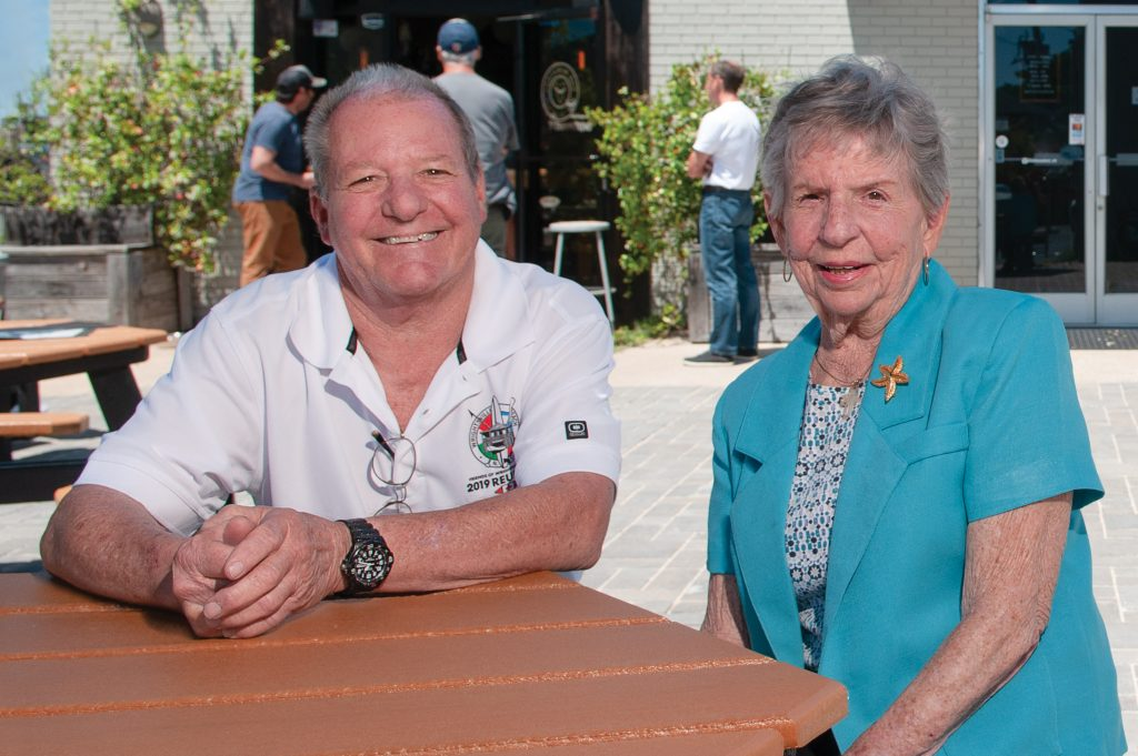 The Drewry family, including John C. Drewry and his mother, Gail Drewry, plan to dedicate Newell's food court later this summer. Allison Potter.