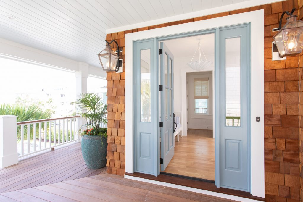 The front door is painted Van Courtland Blue HC-145 by Benjamin Moore.  | Andrew Sherman