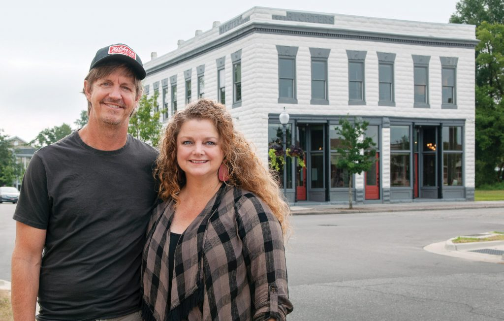 Brad and Andrea Walker, owners of Lighthouse Films, renovated the Richter Building, circa 1903, located on North Fourth and Harnett streets in Wilmington's Brooklyn Arts District, for their offices. Photo by Allison Potter.