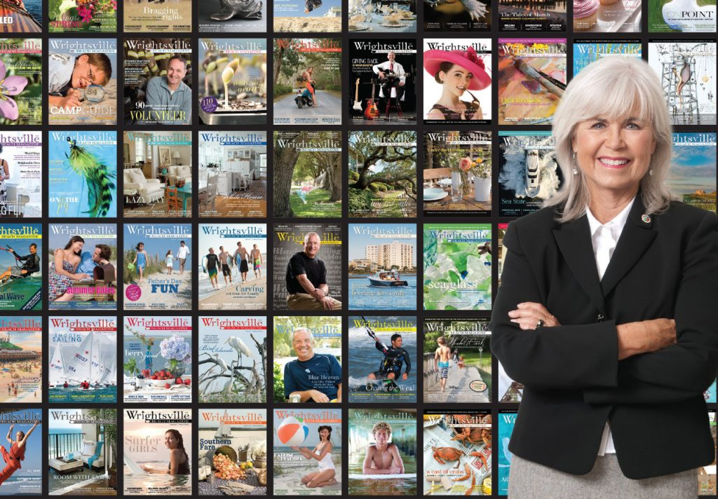 We revisited our covers from years past to create this photo illustration of publisher Pat Bradford, originally printed in WBM's December 2017 anniversary issue.  WBM File photo.
