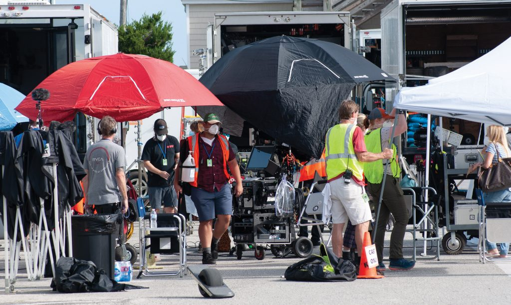 The cast and crew of the STARZ series Hightown filmed in Wrightsville Beach on October 23. Allison Potter