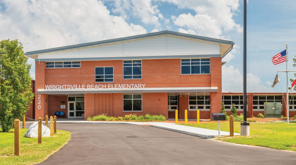 Wrightsville Beach Elementary School students returned to a newly renovated two-story building when in-person classes resumed last fall. Melva P. Calder Photography