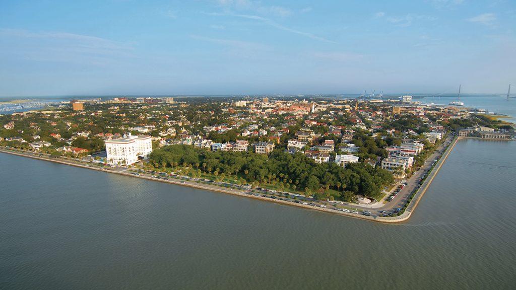 The Ashley and Cooper rivers converge at Charleston, South Carolina. Charleston Area Convention & Visitors Bureau