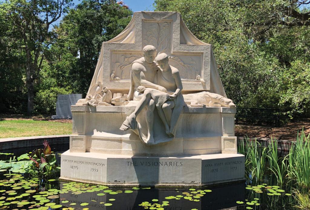 The Visionaries by Anna Hyatt Huntington commemorates the founding of Brookgreen Gardens. Photo courtesy Brookgreen Gardens