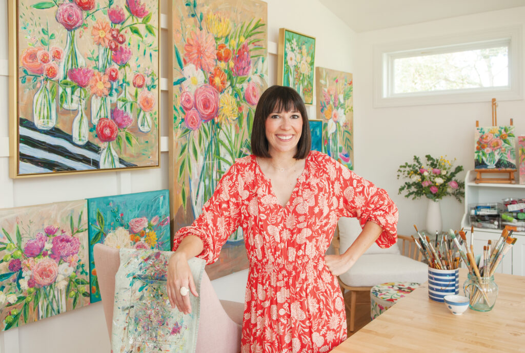 Daisy Faith works from her newly constructed studio in Wilmington. Photo by Allison Potter